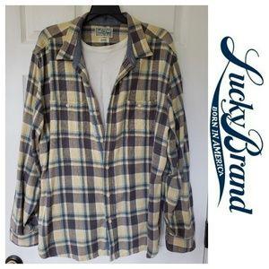Lucky Brand Men Flannel Shirt